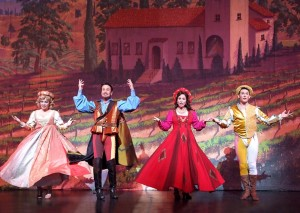Reba Buhr, Davis Gaines, Victoria Strong and Scott Reardon in Cabrillo Music Theatre's KISS ME, KATE
