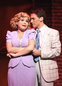 Reba Buhr and Scott Reardon in Cabrillo Music Theatre's KISS ME, KATE