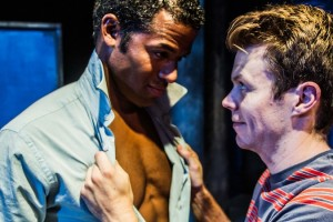 Ron Patterson and Brian Dare in the West Coast premiere of the Celebration Theatre production of THE HOMOSEXUALS.