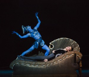 Rory Hohenstein and Dylan Gutierrez in Joffrey Ballet's LA BAYADÈRE-THE TEMPLE DANCER.