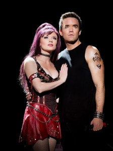 Ruby Lewis & Brian Justin Crum in WE WILL ROCK YOU - THE MUSICAL by QUEEN and Ben Elton.