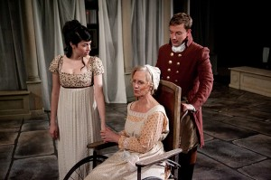 Sarah Price, Annabel Armour and Greg Matthew Anderson in Remy Bumppo's production of NORTHANGER ABBEY.