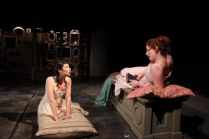 Sarah Price and Darci Nalepa in Remy Bumppo's production of NORTHANGER ABBEY.