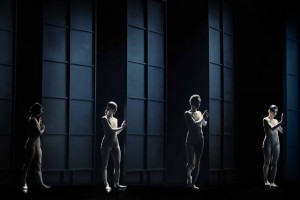 Scene from Nederland Dans Theater's CHAMBER. Choreography by Medhi Walerski, Music by Joby Talbot. Photo by Rahi Rezvani.
