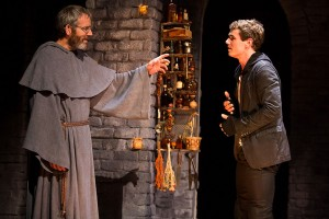 Stephen Bogardus as Friar Laurence and Jay Armstrong Johnson as Romeo in THE LAST GOODBYE at The Old Globe.