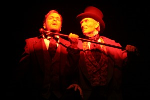 Stephen Van Dorn and Mark Bramhall in Actors Co-op's production of DR. JEKYLL AND MR. HYDE.