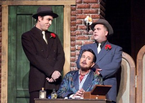 Steve Greene, Davis Gaines and Tom McMahon in Cabrillo Music Theatre's KISS ME, KATE