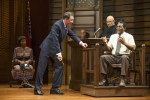 Tijuana Ricks, Patrick Page, Fred Dalton Thompson, and John Douglas Thompson in Broadway's A TIME TO KILL.