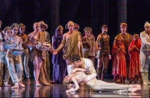 Victoria Jaiani and Dylan Gutierrez in Joffrey Ballet's LA BAYADÈRE-THE TEMPLE DANCER.