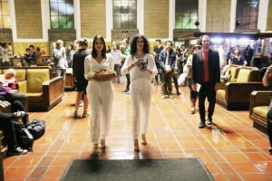 """Scene from """"Invisible Cities"""" by The Industry and L.A. Dance Project at Union Station"""