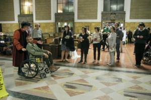 "Scene from ""Invisible Cities"" by The Industry and L.A. Dance Project at Union Station"