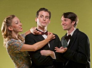 Allison Rich, Sean Thompson and Nathaniel Rothrock in 42ndStreet Moon's production of I MARRIED AN ANGEL.