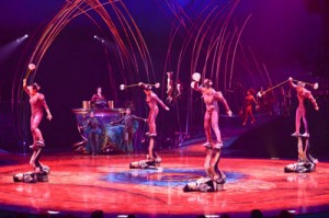 Amaluna Cirque du Soleil, Icarian Games and Water meteors