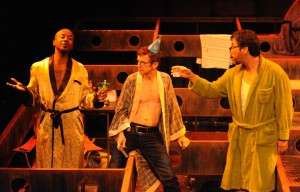 Andre Garner, Brian Mulligan and Roberto Alcaraz in Cal Rep's production of PENELOPE.