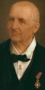Anton Bruckner. Portrait by Josef Büche.
