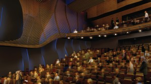 Artist's rendering of the Bram Goldsmith Theater at The Wallis Annenberg Performing Arts Center.