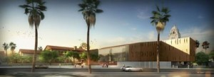 Artist's rendering of the The Wallis Annenberg Performing Arts Center.