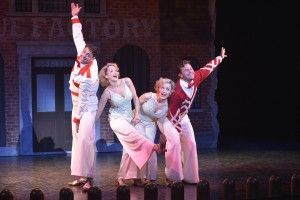 Barrett Martin, Emily Padgett, Erin Davie and Matthew Hydzik in La Jolla Playhouse's re-imagined production of SIDE SHOW.