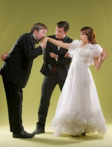 Bill Fahrner, Sean Thompson and Kari Yancy in 42ndStreet Moon's production of I MARRIED AN ANGEL.