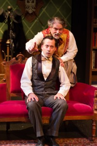 Bruce Ladd (top) and Daniel J. Roberts in Fremont Centre Theatre's production of A PERFECT LIKENESS.