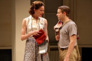 "Carolyn McCormick & Andrew Keenan-Bolger in ""A. R. Gurney's ""Family Furniture"" at the Flea Theater."