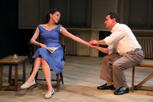 "Carolyn McCormick & Peter Scolari in ""A. R. Gurney's ""Family Furniture"" at the Flea Theater."