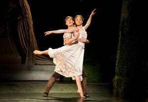 Dominic North and Hannah Vassallo in MATTHEW BOURNE'S SLEEPING BEAUTY - photo by Mikah Smillie