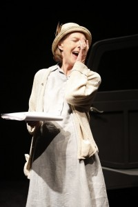 Eileen Atkins in Samuel Beckett's ALL THAT FALL, directed by Trevor Nunn, at 59E59 Theaters.
