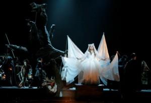 Ekaterina Sadovnikova as Nannetta (disguised as the Fairy Queen) in the final scene of LA Opera's FALSTAFF.