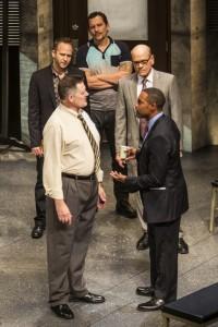 Gregory North, Adam J. Smith, Bradford Tatum, Robert Picardo and Jason George in Pasadena Playhouse's production of TWELVE ANGRY MEN.