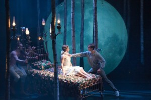 Hannah Vassallo and Dominic North in MATTHEW BOURNE'S SLEEPING BEAUTY - photo by Mikah Smillie