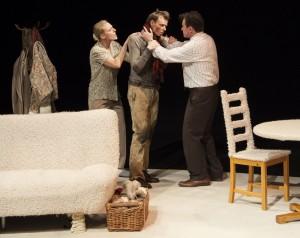 Ingrid Kullberg-Bendz, Kristoffer Tonning & Andrew Langton in THE RETURNING, part of NORWAY PLAYS.