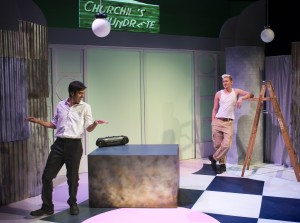 Javi Harnley and Robert Rushin in New Conservatory Theatre Center's production of the U.S. premiere of MY BEAUTIFUL LAUNDRETTE.