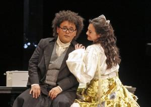 Javier Camarena (Count Almaviva) and Isabel Leonard (Rosina) in SF Opera's production of THE BARBER OF SEVILLE.
