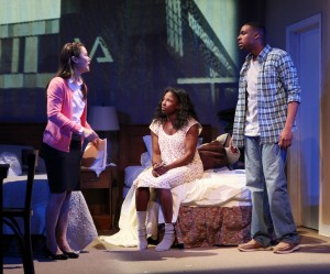 K.K. Moggie, Rutina Wesley and Grantham Coleman in ONE NIGHT... a co-production of Cherry Lane and Rattlestick Playwrights Theater