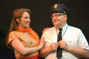 Kristi Holden and David Holmes in Musical Theatre Guild's production of WONDERFUL TOWN.