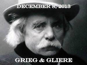 LE SALON DE MUSIQUES Grieg & Gliere, December 8, 2013
