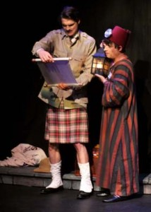 'Lord Edgar' (Matthew Floyd Miller) and 'Alcazar' (Jamie Torcellini) in The Mystery of Irma Vep at the Falcon Theatre.