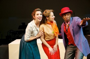 Lowe Taylor, Kristi Holden and Ron Christopher Jones in Musical Theatre Guild's production of WONDERFUL TOWN.