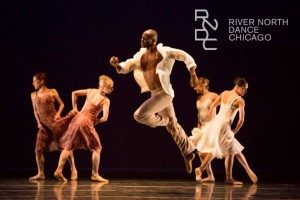 Melanie Hortin, Olivia Laine Rehrman, Deek Buckins, Hayley Meier and Jessica Wolfrum in Frank Chaves' EVA, part of River North Dance Company's Fall Engagement, AUTUMN PASSIONS at the Harris Theater.