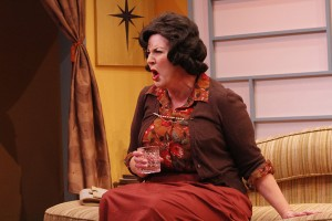 Melinda Gilb in She-Rantulas from Outer Space-in3D! at Diversionary Theatre.