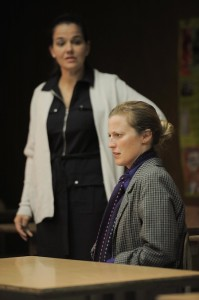 Paula Cale Lisby (background) and Vonessa Martin in Furious Theatre Company's production of GIDION'S KNOT.