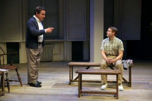 "Peter Scolari & Andrew Keenan-Bolger in ""A. R. Gurney's ""Family Furniture"" at the Flea Theater."