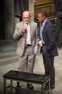 Robert Picardo and Jason George in Pasadena Playhouse's production of TWELVE ANGRY MEN.