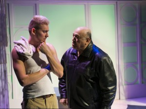 Robert Rushin and Keith Stevenson in New Conservatory Theatre Center's production of the U.S. premiere of MY BEAUTIFUL LAUNDRETTE.