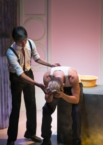 Robert Rushin and Keith Stevenson in New Conservatory Theatre Center's production of the US premiere of MY BEAUTIFUL LAUNDRETTE.