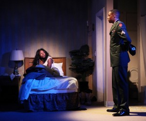 Rutina Wesley and Grantham Coleman in ONE NIGHT... a co-production of Cherry Lane and Rattlestick Playwrights Theater