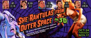 Post image for San Diego Theater Review: SHE-RANTULAS FROM OUTER SPACE-IN 3D! (Diversionary Theatre)