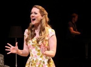Sara Jane (Analisa Leaming) and the Pianist (Jeff Pew) in ARLINGTON at Magic Theatre.