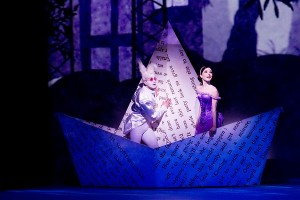 Sarah Lamb and Edward Watson in The Royal Ballet production of Alice's Adventures in Wonderland, choreographed by Christopher Wheeldon, to music by Joby Talbot, with set and costume designs by Bob Crowley.